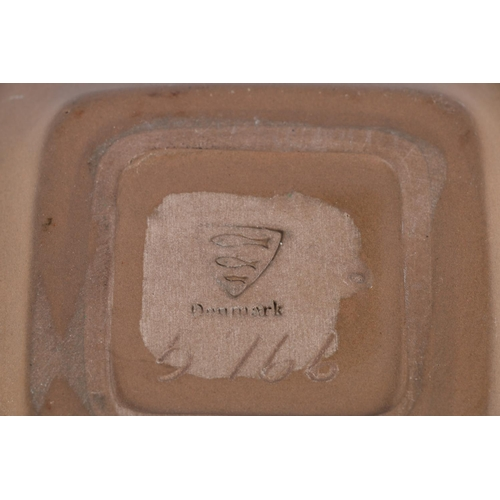 33 - Studio Pottery dish of square form by Michael Anderson & Son of Bornholm, Denmark, mark to base,...