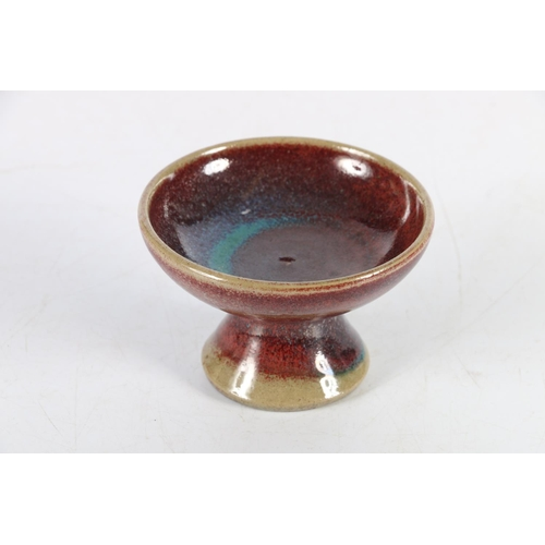 36 - Small Studio Pottery dish with purple and blue glaze, designed by Marianne Starck for Michael Anders...
