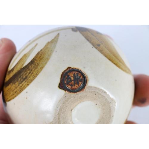 39 - Small Studio Pottery squat vase by David Heminsley, 7cm