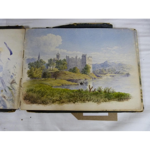 13 - Sketch Book.Late Victorian sketch book (sold by C. E. Clifford, Piccadilly) containing a number of...
