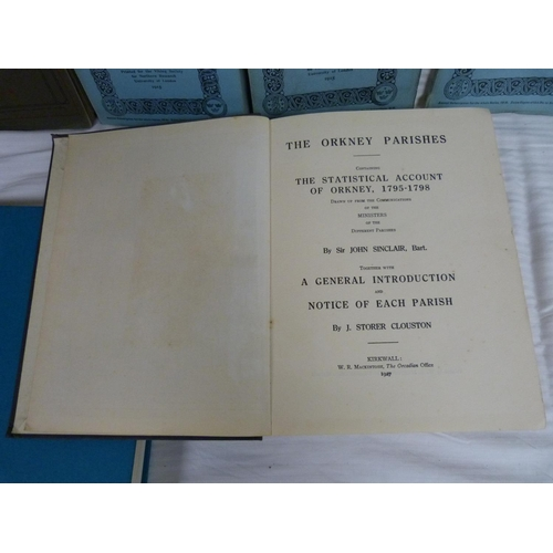 21 - FIRTH JOHN.Reminiscences of an Orkney Parish. Illus. Orig. cloth. Stromness, 1920; also 9 other bo...