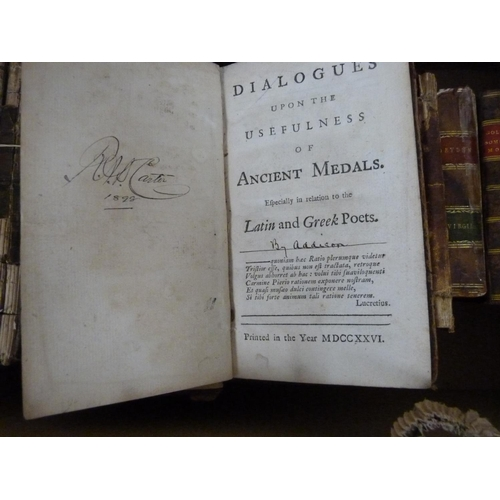 32 - ADDISON JOSEPH.Remarks on Several Parts of Italy. 12mo. Calf. 1733; also (Addison), Dial...