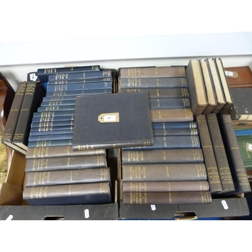 37 - SOCIETY OF ANTIQUARIES OF SCOTLAND.Proceedings. A run from 1914 to 1958, lacking vols. 5...