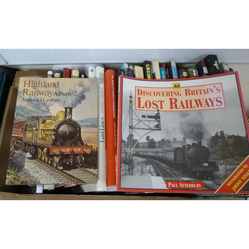 44 - Railways.A large carton of various vols., mainly in d.w's.