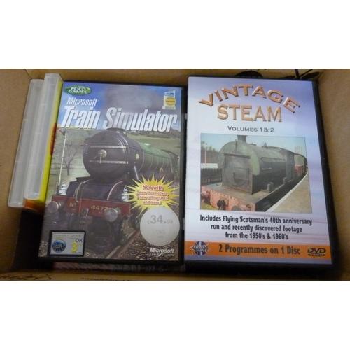 54 - Railways.A carton of DVDs.