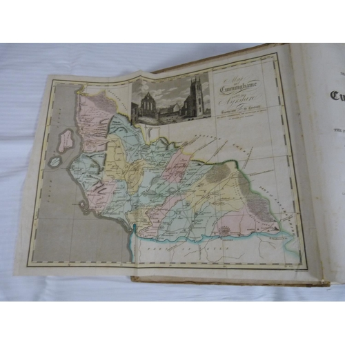6 - ROBERTSON GEORGE.Topographical Description of Cunninghame. Fldg. hand col. eng. map with vignette....