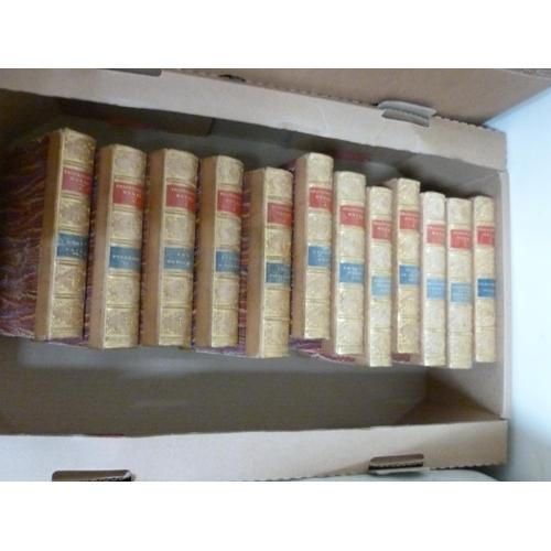 60 - THACKERAY W. M.The Works. The set of 12 vols. Frontis. Half calf. Smith, Elder & Co....