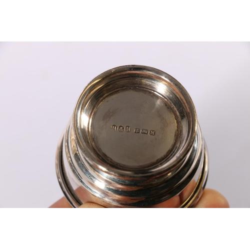 10 - Art Deco period silver six piece condiment set byHukin & Heath Ltd Birmingham 1936 292g gr...
