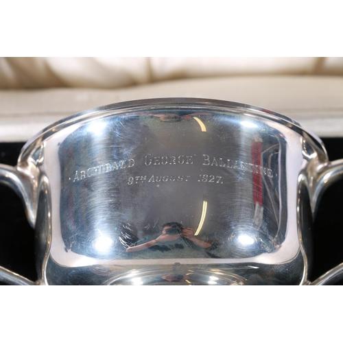 25 - George V silver twin handled porringer bowl byCharles S Green & Co Ltd, Birmingham 1925 13...