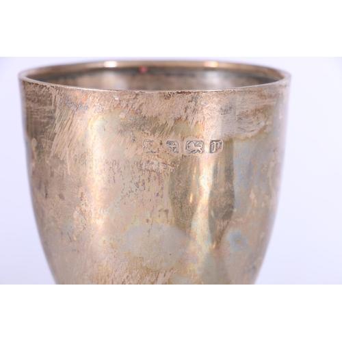 38 - George V silver sugar caster by Ernest Druiff & Co, Birmingham 1921, 167g, a silver goblet