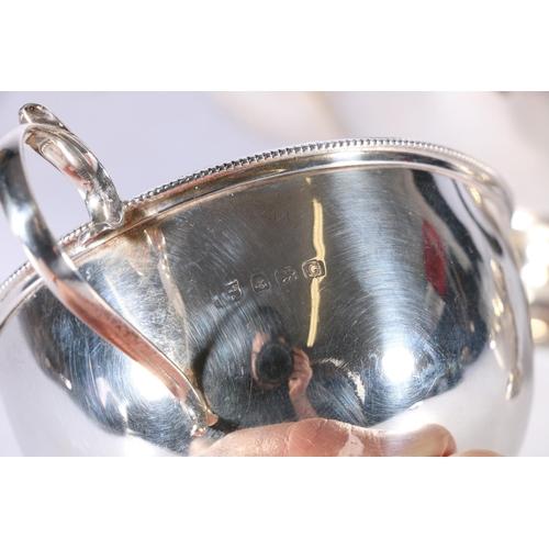 56 - George V silver three piece tea set bySBlanckensee & Son Ltd, Birmingham 1930, 584g ...