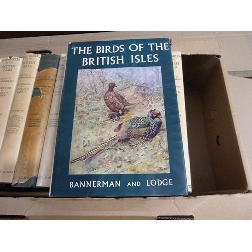 37 - BANNERMAN D. A. & LODGE G. E.The Birds of the British Isles. The set of 12 vols. Ver...