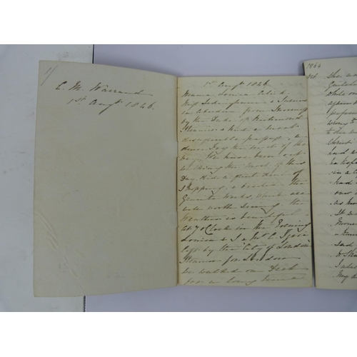 10 - WARRAND CATHERINE M., , later Catherine Grant of Bught.2 manuscript diaries of a Scottish country ...