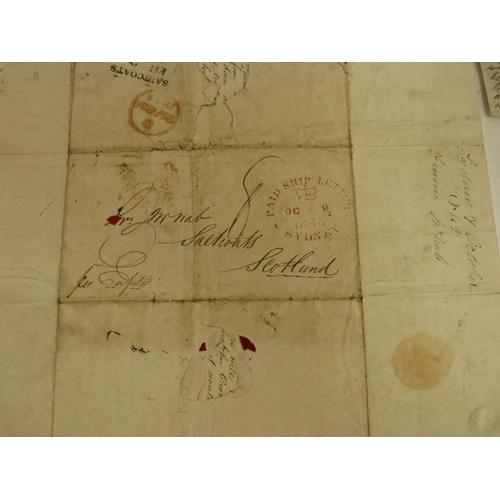 12 - McNAB FRANCIS. Australia.6 detailed manuscript letters, each a folded folio sheet