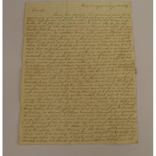 13 - McNAB WILLIAM. Buenos Aires.Very detailed manuscript