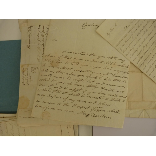 16 - Letters by Scottish Women.An interesting collection of 40 plus manuscript letters spanning the peri...