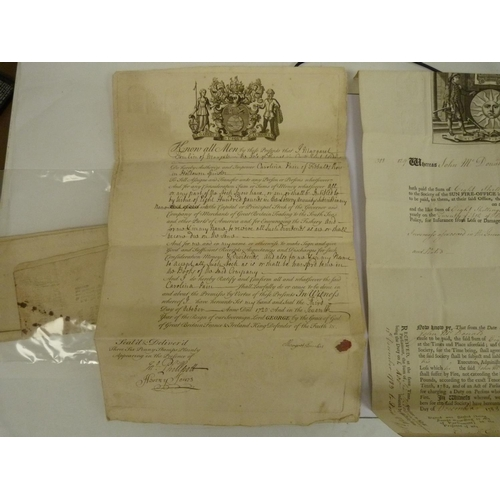 19 - Insurance Certificates.United and Most Beneficial Society for Perpetual Insurance Upon Lives. 3 fol...