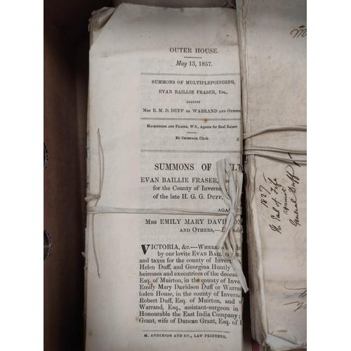 25 - FAMILY OF DUFF, of Muirtown, etc.2 manuscript account books, c.1807/1815 & a carton of bundles...