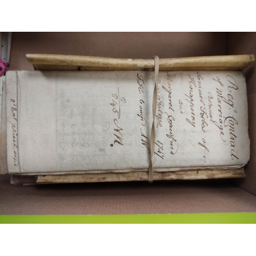 27 - FORBES SAMUEL, of Knapperny.Reg.t Contract of Marriage (with) Margaret Crawfurd. 1738/1747; also a ...