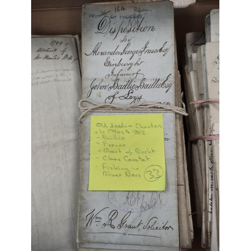 31 - FAMILY OF GRANT, of Bught, & others.A carton of documents & letters, dispositions & ch...
