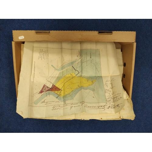 32 - CUMMING THOS. (Surveyor).Plan of the Lands in Dispute between Major Hugh R. Duff of Muirtown &...