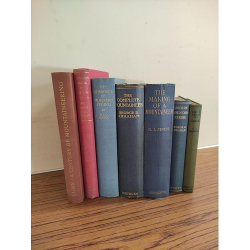 46 - ABRAHAM GEORGE D.The Complete Mountaineer. Illus. Orig. blue cloth, some wear. 1923; als...