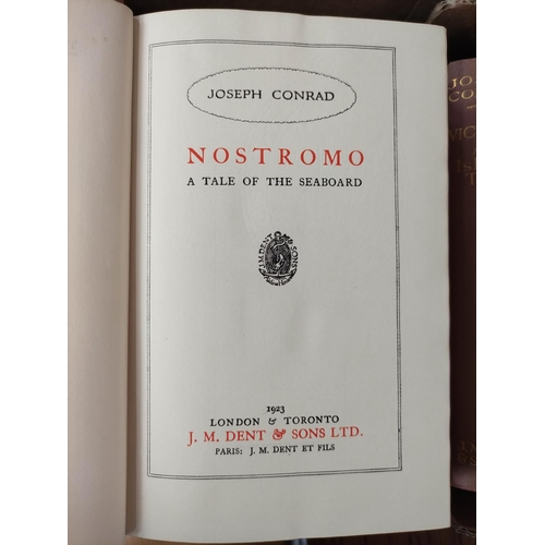 48 - CONRAD JOSEPH.The Uniform Edition of The Works. 22 vols. Orig. red cloth gilt. 1923; als...