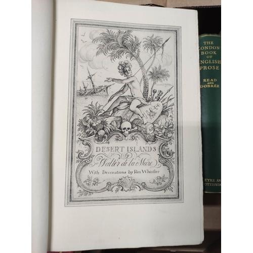 52 - Poetry & Literature.A carton of various vols.