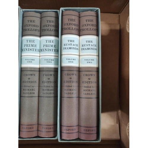 55 - TROLLOPE ANTHONY.The Oxford Trollope, Crown Edition. 11 vols. (of 15) in d.w's & mai...