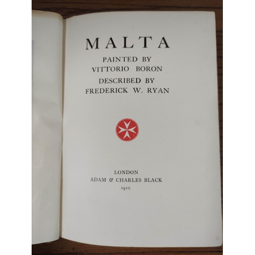 59 - BLACK A. & C. (Pubs).Malta, 1910 & 4 other A. & C. Black works with col. pla...