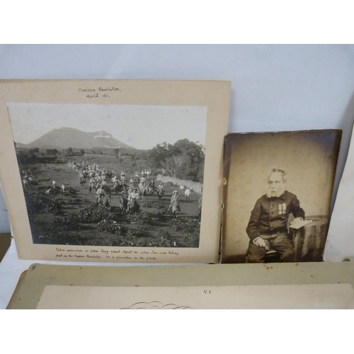 6 - BURNLEY-CAMPBELL LT. COL. HARDIN(1843-1920).Commission as Major (very foxed), July 1881 & as ...