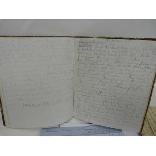 8 - WARRAND Lt. ALEXANDER J. C., 35th Regiment. Quarto exercise book in marbled brds., full, containing...