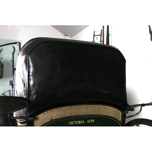 2 - PANEL BOOT VICTORIAby Linington of Portsmouth and Havant. In black and green with green lining. Ca...