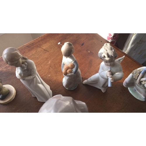 13 - <p>Collection of Lladro and Nao Figures.</p> <p>We have checked the figures over and we can find no ...