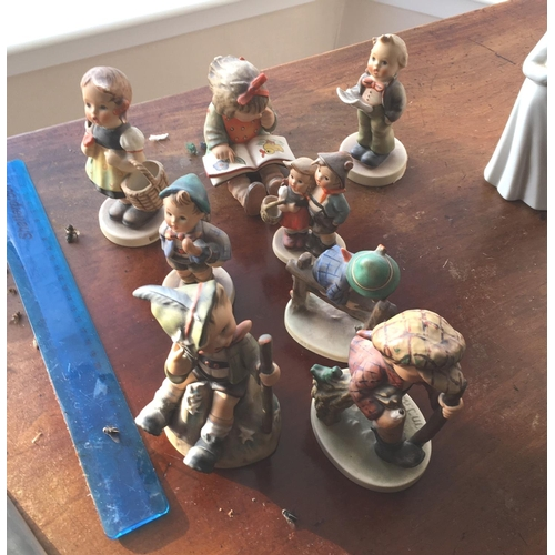 14 - <p>Collection of Hummel and Goebel Figures.</p> <p>We have checked the figures over and we can find ...