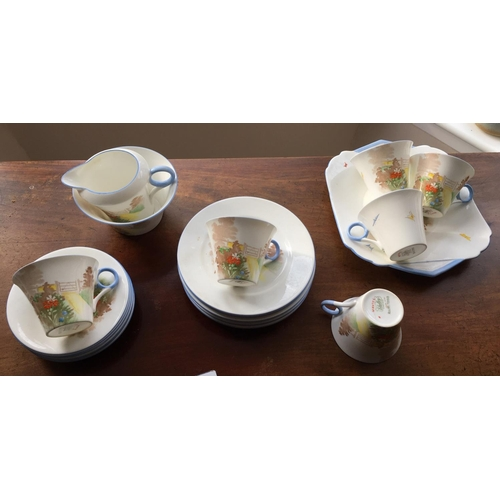 2 - <p>Shelley 21 Piece Tea Set - in an very good condition.</p> <p>The set has been checked over and we...