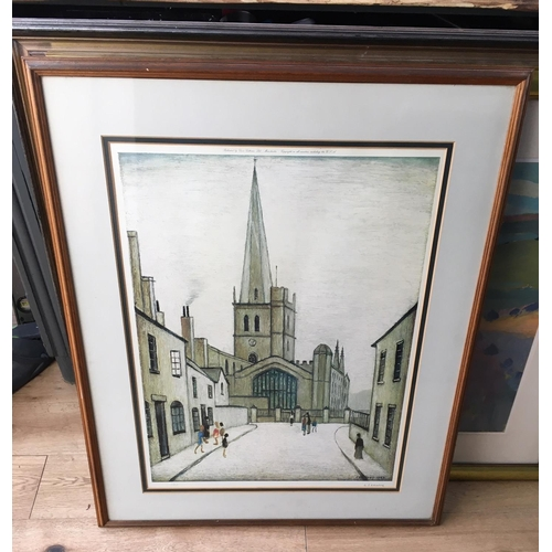 20 - <p>L S Lowry signed Print 1/850 of Burford Church published by Grove Galleries - Manchester 1948.</p...