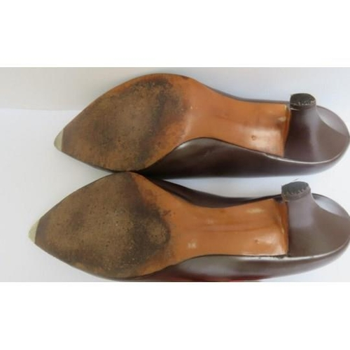 21 - <p>Christian Dior by Roger Vivier leather shoes circa 1960. </p> <p>3 Inch heels, size 4 UK.</p...