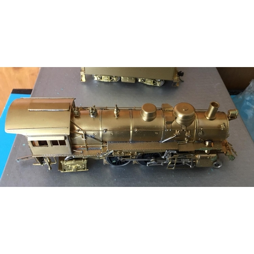32 - <p>Boxed CUSTOM BRASS ASTF 1800 2-6-2 Brass Model Train.</p> <p>The train in our opinion is in an ex...
