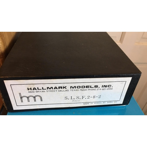 42 - <p>Vintage Boxed DONG JIN Hallmark Models Inc - S.L.S.F. 2-8-2 Brass Model Train.</p> <p>In our opin...