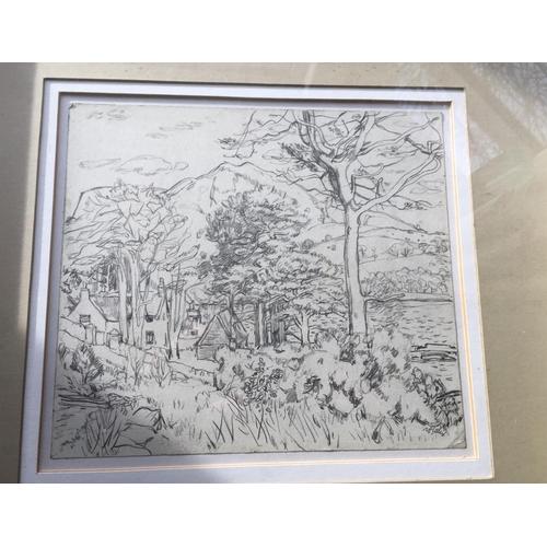 52 - <p>Sir William Gillies Pencil Drawing - 27cm x 24cm.</p> <p>The frame measures 53cm x 49cm.</p> <p>T...
