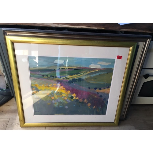58 - <p>Enid Foote Watts Oil Painting of Rosebay - 65cm x 55cm.</p> <p>The frame measures 92cm x 81cm.</p...
