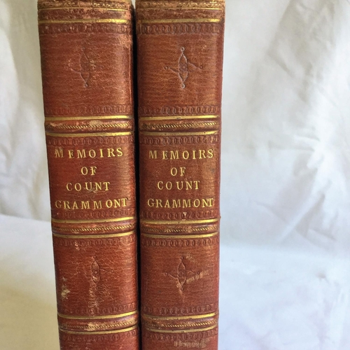 12 - 1809 Memoirs of Count Grammont vols 1 and 3 only by Count A Hamilton published by J White Longman Hu...