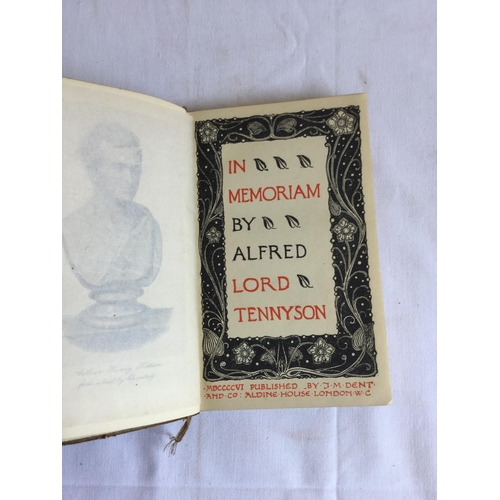 35 - In Memorian, Temple classics by Alfred Lord Tennyson, Published by J.M Dent London...