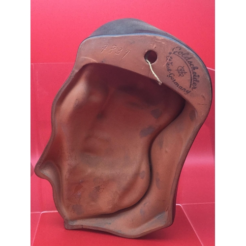 28 - Art deco Goldscheider West Germany wall mask circa 1950's model number 7831...