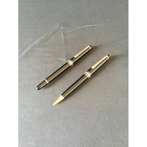 30 - Montblanc meisterstuck set consisting of pencil and rollerball pen in presentation box...