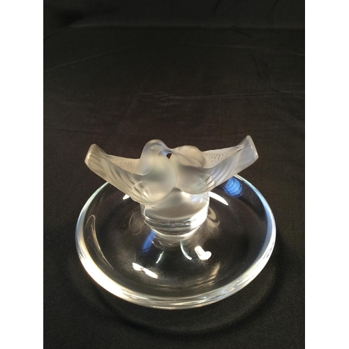 50 - 4 Lalique French glass birds. All in perfect condition....