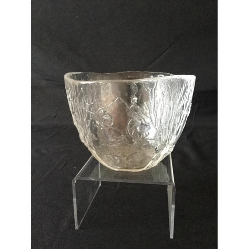 53 - Kosta Boda glass bowl in perfect condition....