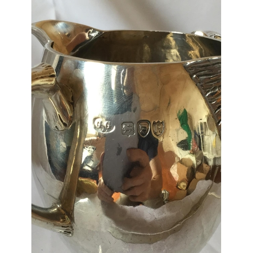 58 - Very nice silver hallmarked double lipped jug weighing 222 grams. London Hallmark dated 1892 by Geor...