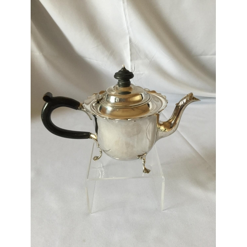 59 - Silver hallmarked Mappin & Webb teapot weighing 318 grams. London Hallmark dated 1899....